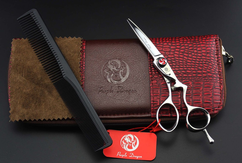 New arrival high grade 5.5 inch personality hairdressing barber scissors flat cut bangs scissors free with comb and case недорого