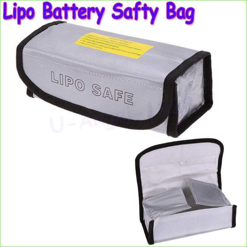 Wholesale 1pcs Lipo Battery Safety Bag Lipo Battery Guard Bag Charge Sack Battery Protection Bag for LiPo Battery 185*75*60mm вольтметр 50v 50a lifepo4 lipo tf01n