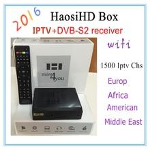 2016 nouveau HaosiHD R1 Arabe iptv récepteur avec iptv europe iptv italie free1800 europe Amérique Afrique canal, mieux que mag 250