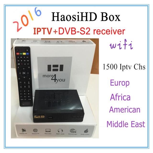 2016 nueva HaosiHD R1 receptor del iptv Árabe con iptv iptv europa italia free2300 europa America Del canal de Africa, mejor que mag 250