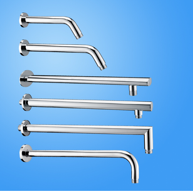 Wholesale And Retail High Quality Chrome Copper Material Thick Different Item Bathroom Faucet Shower Arm