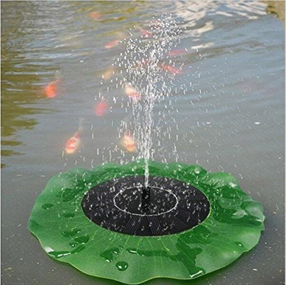 Online buy wholesale lotus water fountain from china lotus water simulation lotus leaf floating bird bath solar power fountain garden water panel pump kit pool pond dhlflorist Images