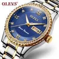 Relogio Masculino OLEVS Mens Watches Top Brand Luxury Full Steel Quartz Watch Men Fashion Business Sport
