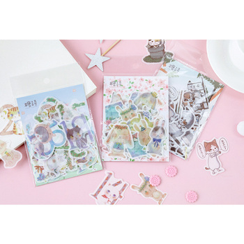 40pcs/lot Fresh Summer Concerto Series Sticker Pack Paper Sticker Decoration Diy Ablum Diary Scrapbooking Label Stickers 20packs lot forest animal festival mini paper sticker decoration diy ablum diary scrapbooking label sticker 45 pieces into