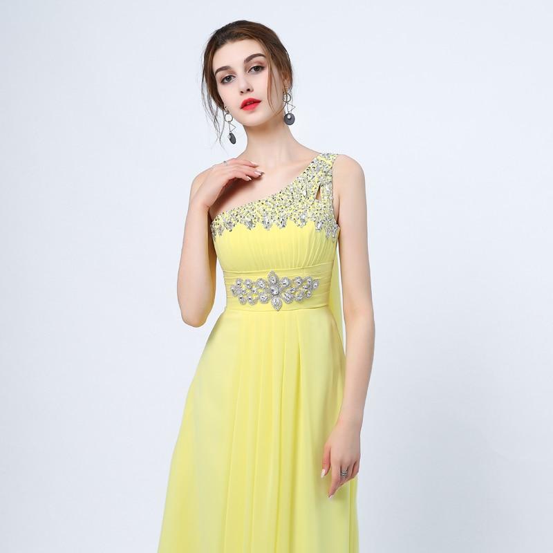 Ladybeauty 2018 Baru Elegant Satu Bahu A-Line Gaun Petang Panjang - Gaun acara khas - Foto 5