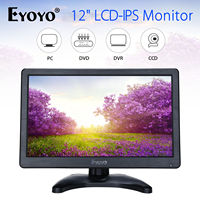 EYOYO H1116 12 LCD HD 1366x768 IPS Security Monitor For PC Camera DVD DVR Home Office With HDMl BNC Cable Audio Video Display