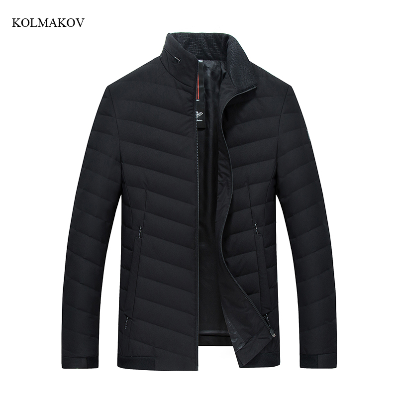 2018 New Arrival Winter Style Men Boutique Leisure   Down     Coats   Fashion Casual Stand Collar Solid Warm   Down     Coat   Clothes M-4XL