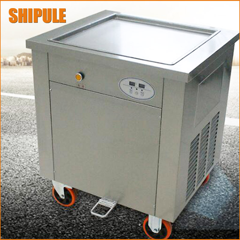 Ice Cream Roll Frying Machine Tailand Fried Ice Cream Roll Machine Flat Ice Cream Fried Pan free shipping big pan 50cm round pan roll machine automatic fried ice cream rolling rolled machine frying soft ice cream make