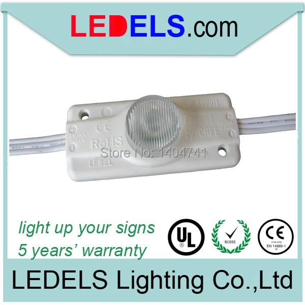 12vdc 2 4watt 200lumens side led modules for light box signs cree