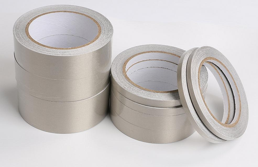 Metal Conductive Adhesive Tape, Radiation Protection Tape.Electronic Circuit Board Conductive Cloth .EMF Shelding.