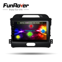 FUNROVER 8 cores Android8.0 2 din Car DVD player multimedia for KIA Sportage 2014 2011 2012 2013 2015 Gps radio tape recorder fm