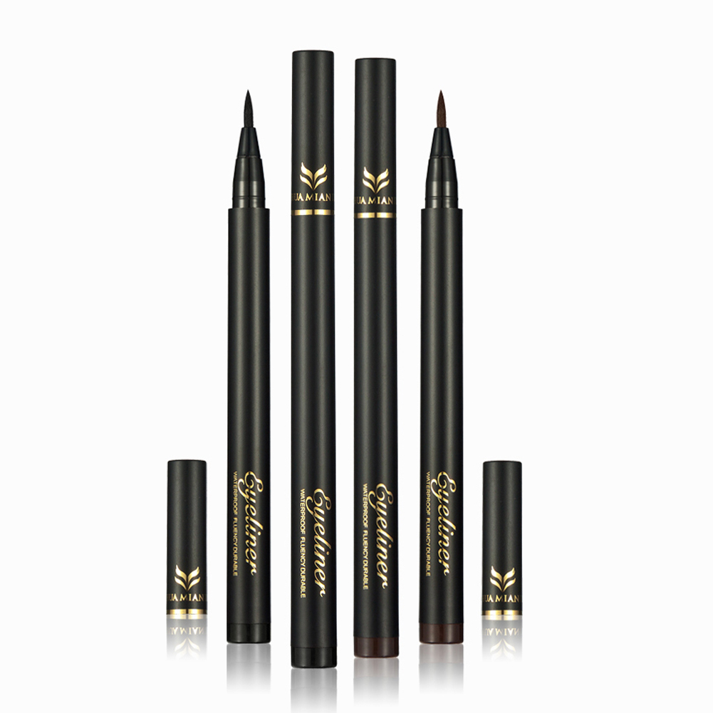 Professional Quick-dry Black Brown Long Lasting Waterproof Eye liner Pen Eyeliner Pencil Eyes Makeup Cosmetic Tool