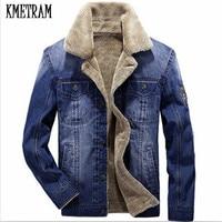 KMETRAM 2017 New Style Men Jacket And Coats Denim Jacket Fashion Mens Jeans Jacket Thick Warm