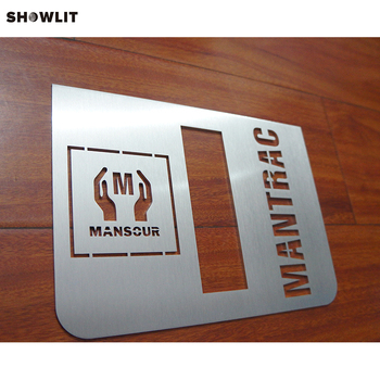Modern Building Apartment Door Numbers Cutting Customized Signs