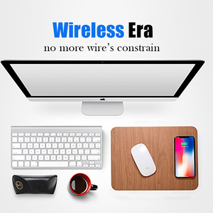 Image 2 - 10W Fast Wireless Charging Charger Mouse Pad Mat for iPhone X XS Max XR 8 Leather Induction Charger Mousepad for Samsung S8 S9