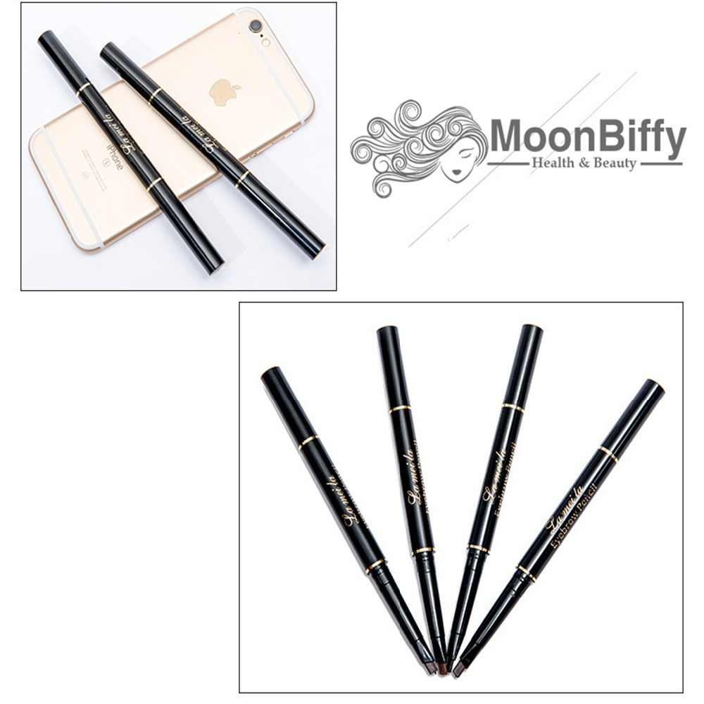 MOONBIFFY Tato Lukisan Cat Air Alami Tahan Lama Tahan Air Alis Hitam Pensil Alis Makeup Alis Warna Kosmetik