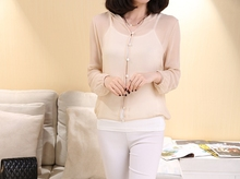 Hot sale!  100% silk female shirt  silk Bo sun clothing long coat sun proof Hooded clothing ultraviolet-proof-b148