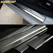 AOSRRUN Car accessories Stainless Steel Side Door Scuff Plate Door Sill Trim Fit For Nissan Sentra