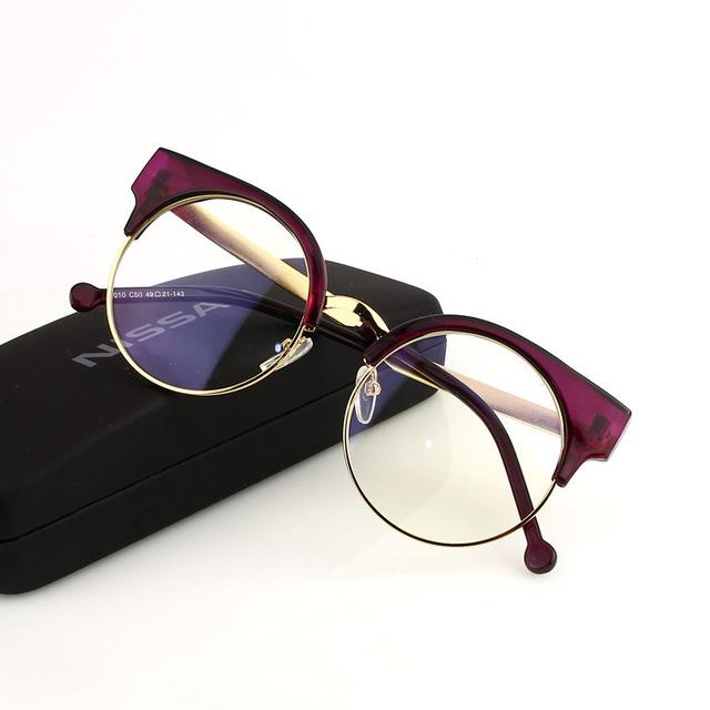 Nova Eywear Mulheres Olhos de Gato de Acetato de Vidros Ópticos Quadro Vermelho Preto Tortoise Brown Colorido Óculos Frames