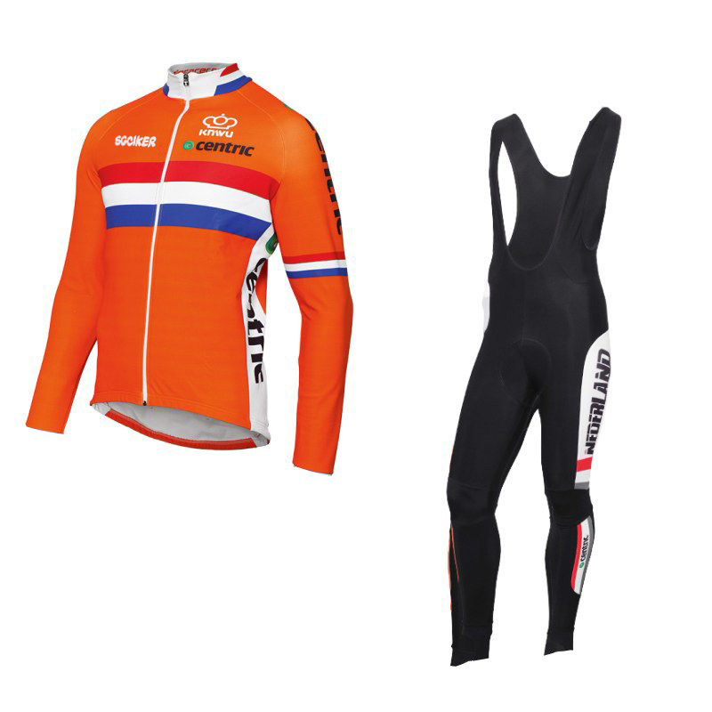 winter fleece Team netherlands quick-dry Cycling jersey Dutch flag breathable  clothing MTB Ropa Ciclismo 00e46a0bc