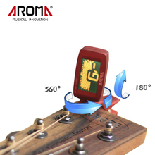 Aroma AT-200 LCD Chromatic Tuning Clip-On Backlight Turner For Acoustic Guitar Bass Ukulele