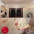 Decoração do casamento do natal, luz bola de algodão, bola de iluminação led cortina de luz de 3.5 m com plug