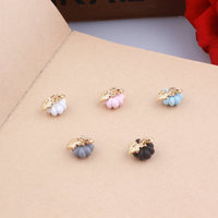 Wholesale 100PCs 10*12MM 3D Rubber Enamel Alloy Pumpkin Charms DIY Jewelry Findings Ornament Accessories Necklace Pendant Craft