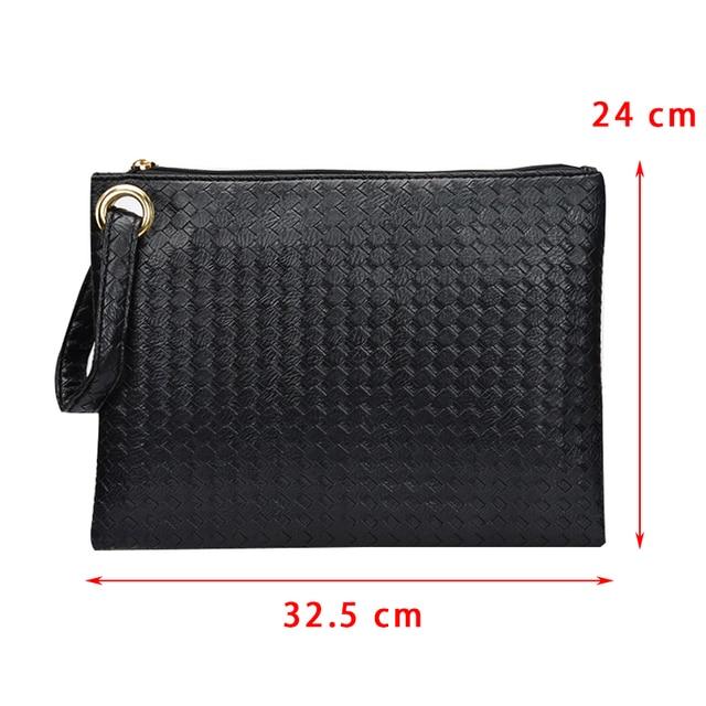 Pu Leather Knitting Women Bag  5
