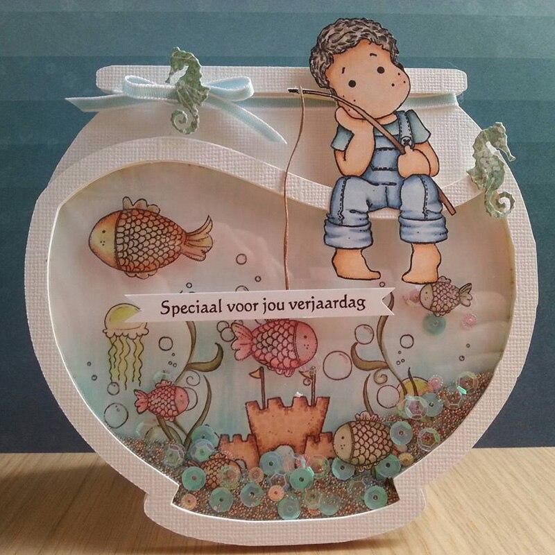 ZFPARTY Fish Bowl Metal Cartão De Corte Morre Stencils para Scrapbooking DIY/álbum de fotos Decorativo Embossing DIY Cartões de Papel