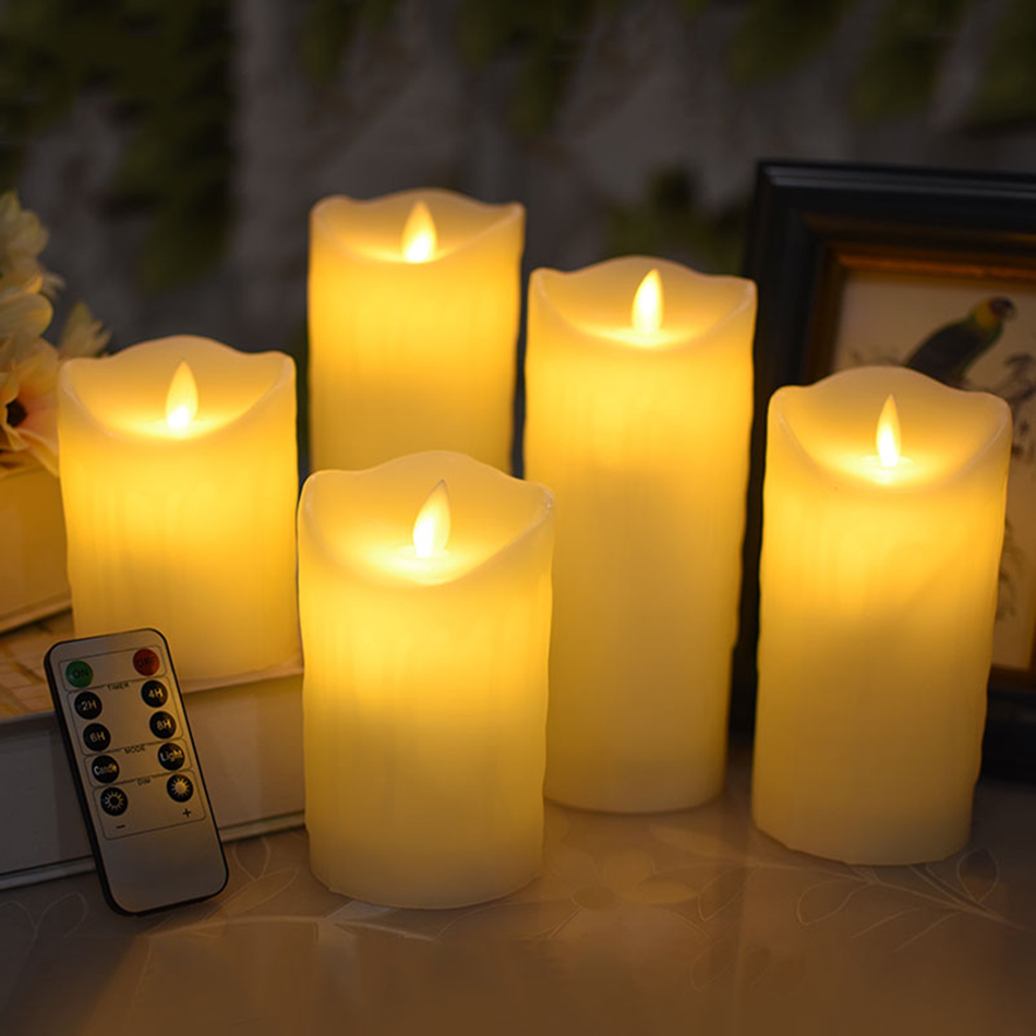 Christmas Candles.Us 10 22 30 Off Remote Control Swing Electronic Led Candle Lovely Night Lights Wedding Party Decoration Christmas Candles Fireplace Candle In