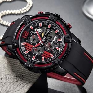 Image 3 - Relojes 2020 MEGIR zegarek męski luksusowy chronograf silikonowy wodoodporny Sport wojskowy męskie zegarki analogowy kwarcowy Relogio Masculino