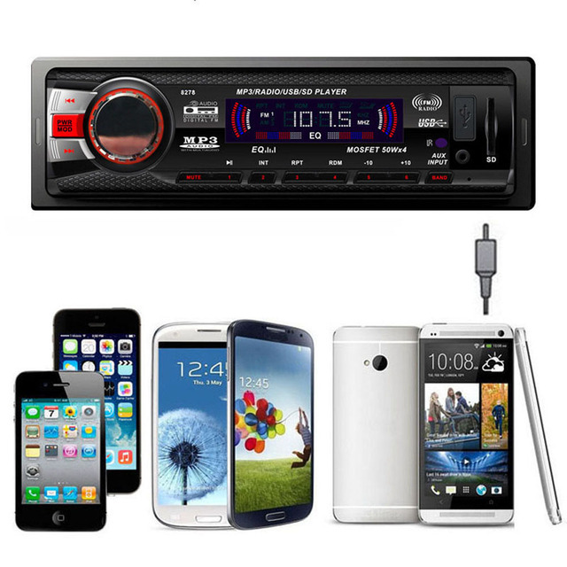 Car Bluetooth Audio Stereo Player In Dash Support AM FM Aux Input Receiver with SD USB MMC MP3 Player Support Remote Control