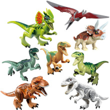 8Pcs 77001 Jurassic World 2 Tyrannosaurus Rex Dinosaur Building Blocks Dinosaur Action Figure Bricks Dinosaur Toys Gift 79151 77001 jurassic world 2 dinosaur tyrannosaurus building blocks dinosaur action figure bricks legoings dinosaur toys gift