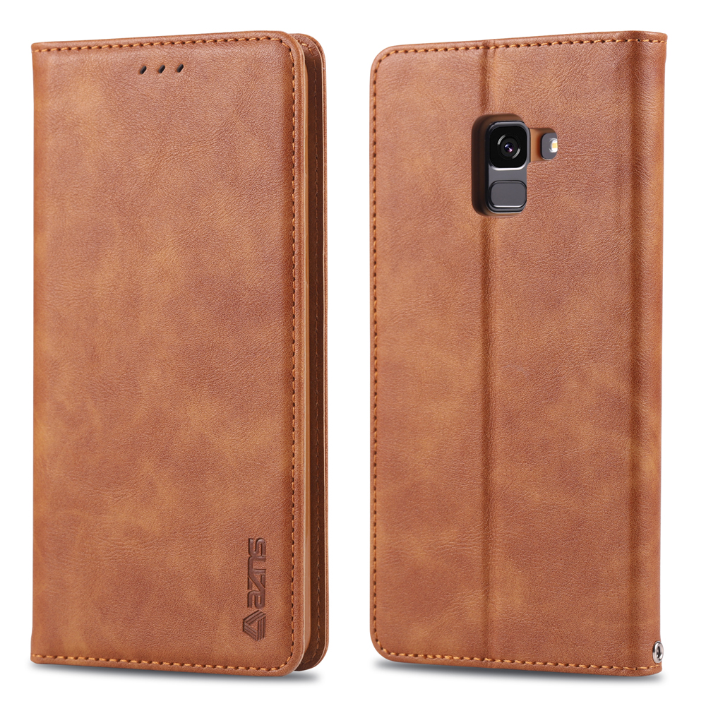 Coque Cover Case For Samsung Galaxy a6 Plus A6 A7 a8 Plus 2018 Luxury Flip Wallet Leather Phone Bag For A8s funda in Flip Cases from Cellphones Telecommunications