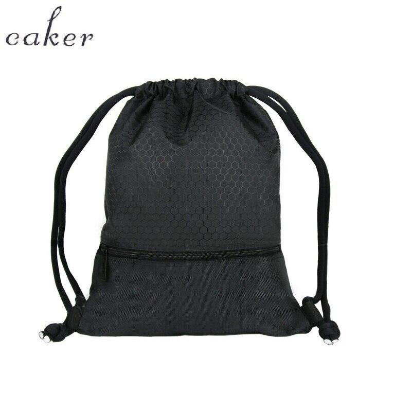 Caker brand Drawstring Backpack Men Women Waterproof Lightweight Travel backpack Black blue red Sports Bag forTeenager Boy ...