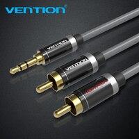 Vention HiFi 3.5 мм Джек 2 RCA аудио кабель позолоченный 2 RCA разъем стерео Aux кабель для дома Театр dvd vcd наушники