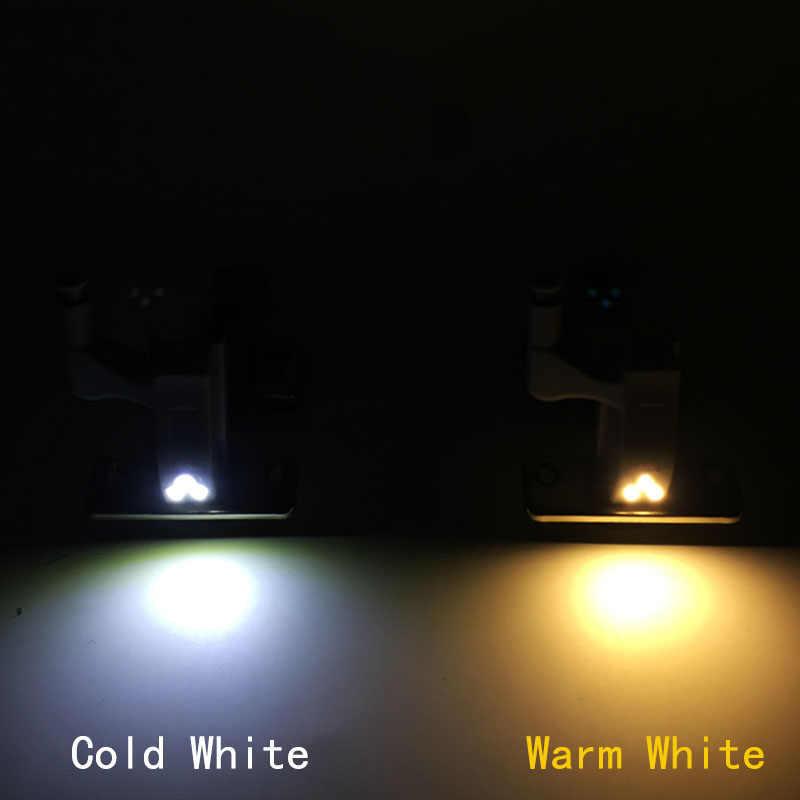 10pcs/Set 0.25W Kitchen Bedroom Living Room Cabinet Cupboard Closet Wardrobe Hinge LED Light DIY Night Lamp White Color