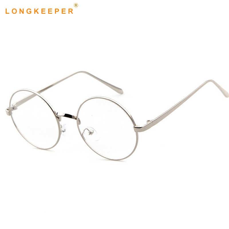 b65794e5ca ... Gafas redondas coreanas de gran tamaño con montura de lentes  transparentes para hombres y mujeres montura ...