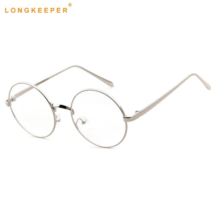 195b0f965d Oversized Korean Round Glasses Frame Clear Lens Women Men Retro Gold  Eyeglass Optic Frame Eyewear Vintage Spectacles LongKeeper-in Eyewear Frames  from ...