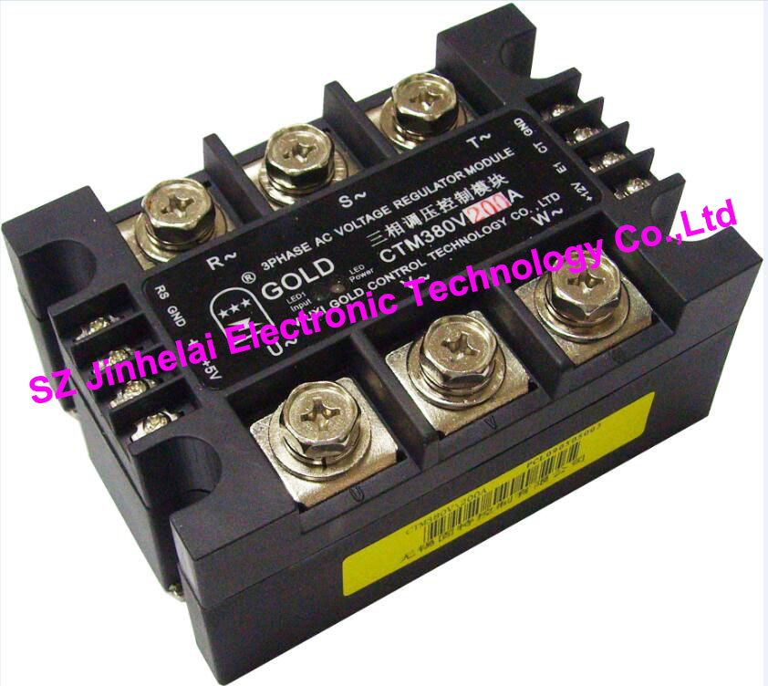 New and original CTM380V200A GOLD 3-PHASE AC Solid state relay 200A new and original sa366200d sa3 66200d gold 3 phase solid state relay 4 32vdc 90 660vac 200a