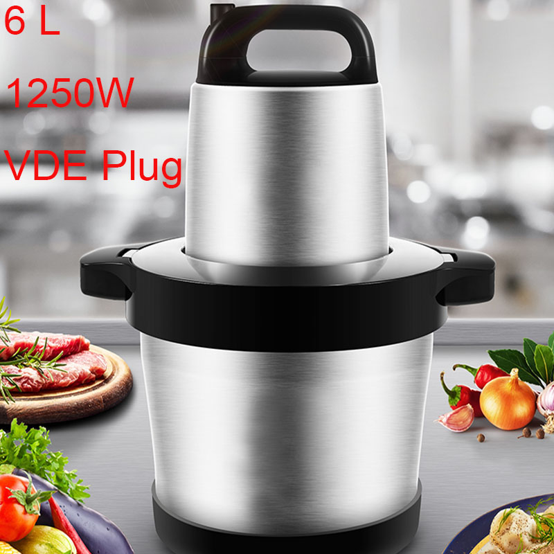 6L Commercial Meat Grinder Chopper Automatic Electric Mincing Machine High-quality Household Or Commercial Food Processor