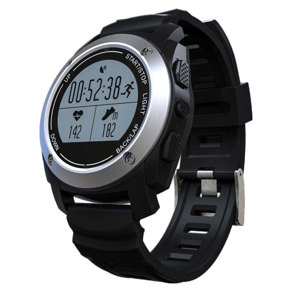 imágenes para S928 gps deportes al aire libre gimnasio rastreador rastreador sleep smart watch ip66 impermeable vida smartwatch para android 4.3 ios 8.0