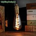 ST64 LED vintage lamp bulb spiral new design soft LED filament 4W 220V E27 Edison bulb commercial light bulb night lamp bulb
