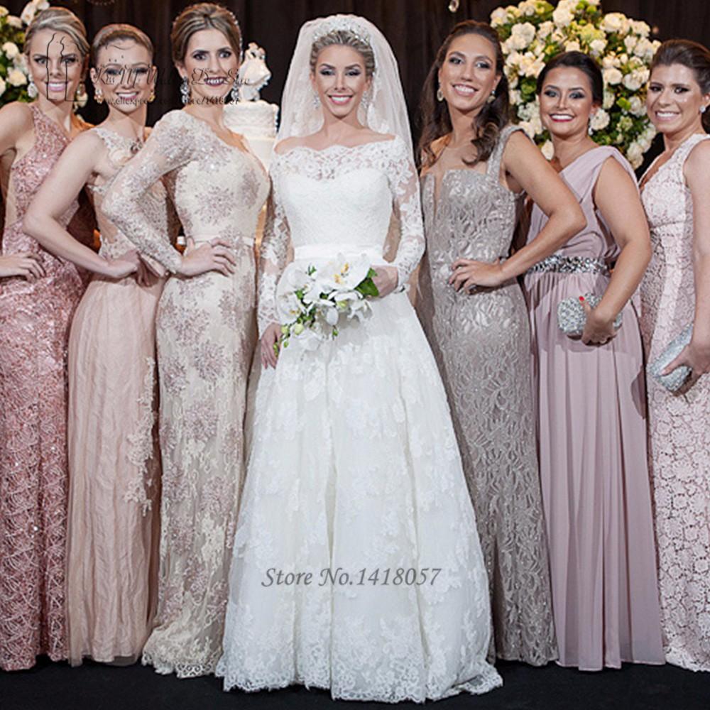 Vestido de Noiva de Renda Alibaba China Wedding Dresses Turkey Long Sleeve  Lace Bride Dress 2017 Princess Vintage Wedding Gowns 73d60653b495