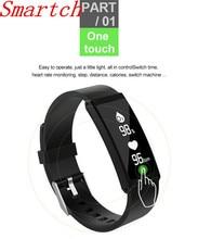 Smartch S6 умный Браслет IP68 Водонепроницаемый 0.96 дюймов Presión arterial Monitores Спорт Одежда заплыва Напульсники группа для IOS телефонах Android