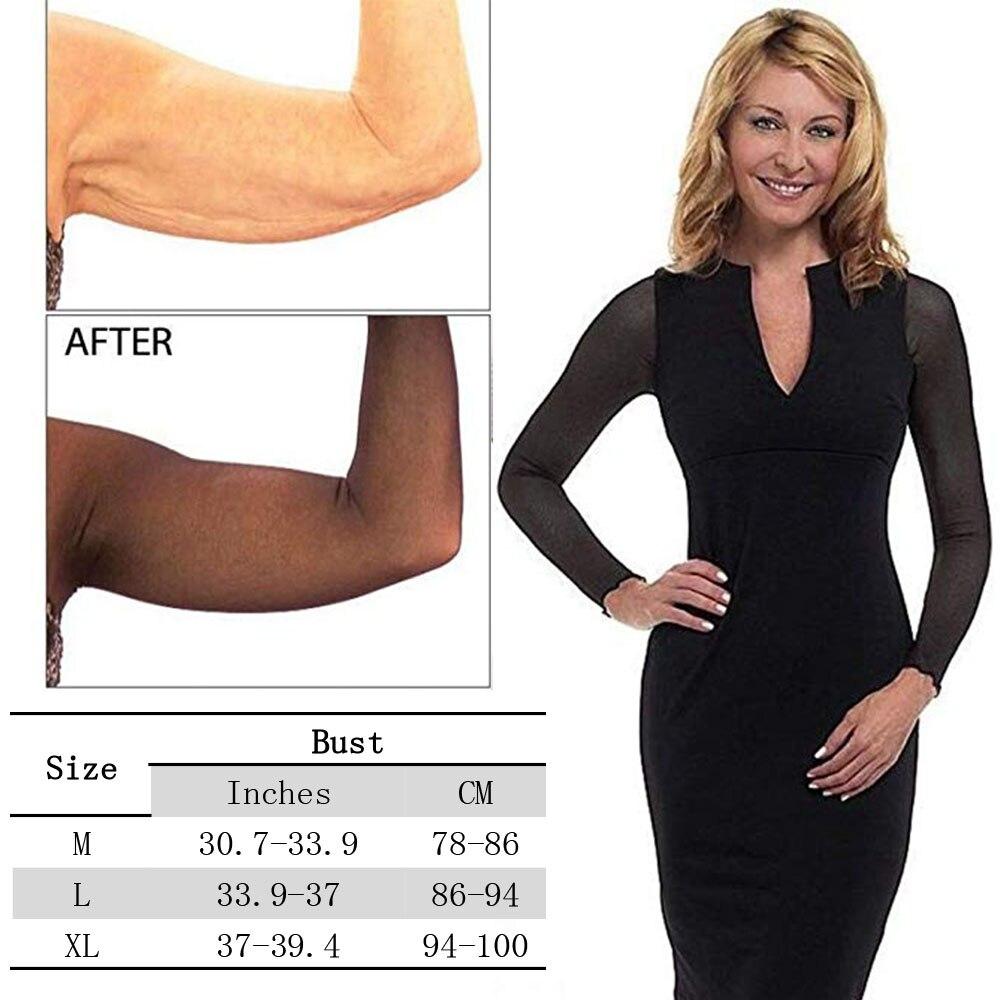 Lover Beauty Arm Sleeve Shapewear Crop Tops Slimming Control Seamless Arm Shaper Cropped Mesh Cardigan Body Wrap Arm Trimmers in Tops from Underwear Sleepwears