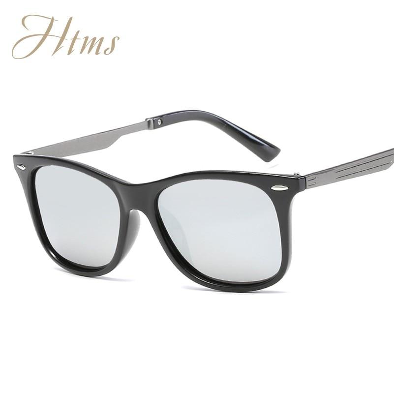 2017 HTMS New Rivet Men Polarized Women Sunglasses Classic Men Oval Retro Shades Ray Brand Designer Sun glasses UV400 UV-AB
