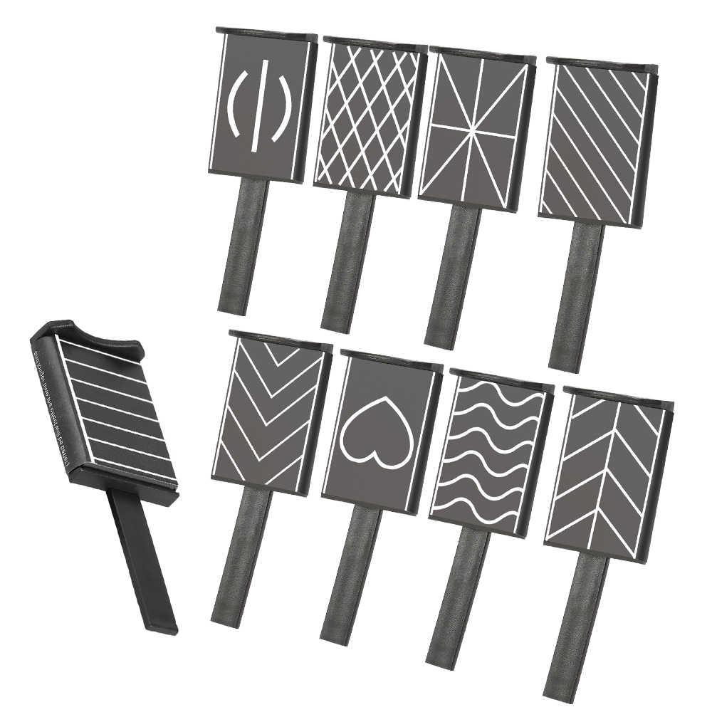 11 pièces/ensemble 3D aimant bâton oeil de chat stylo magnétique pour ongles dessin Vertical bâton pour vernis à ongles Gel magique outils à ongles