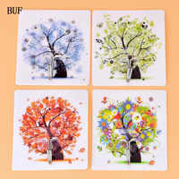 BUF 4PCS/Set Strong Cartoon Hooks Recyclable Waterproof Traceless sticker hanger Lasting Wall Hanging Self Adhesive Hooks
