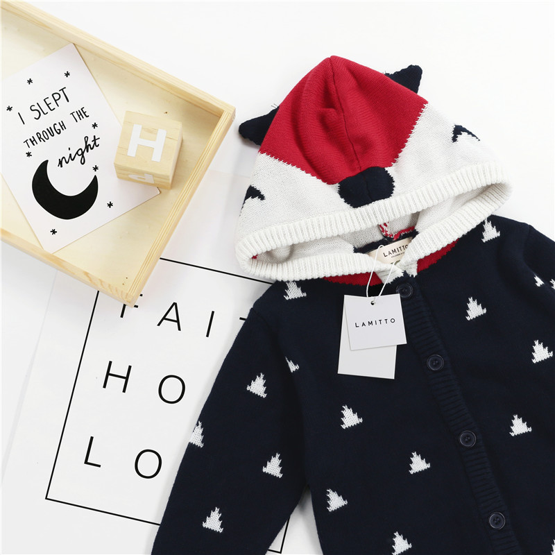 Children Cardigan Sweater 2018 Spring and Autumn New Boys and Girls Cartoon Fox Hooded Sweater Baby Cotton Wool Sweaters children autumn and winter warm clothes boys and girls thick cashmere sweaters